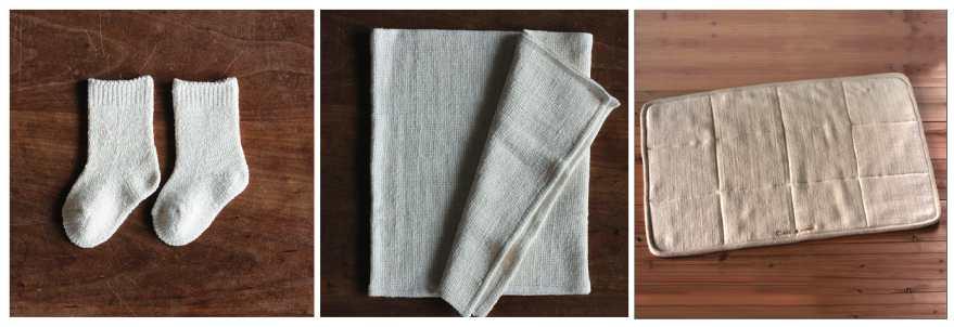 きなり色の春 2015' 自然栽培綿の小物 price down