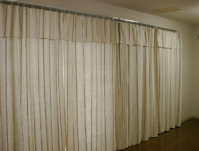 自然栽培綿カーテン納品事例 0410-2