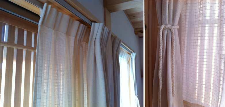 自然栽培綿カーテン納品事例 1310
